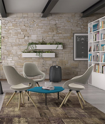 Leyform produces design armchairs and sofas for the waiting room, entrance, hall