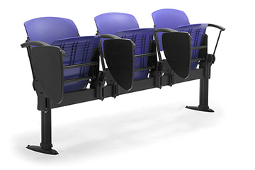 lecture hall commercial bench seating with arms Cortina