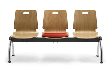 waiting area benches with wooden seat Cristallo
