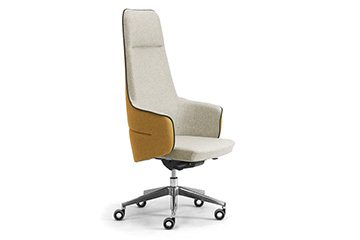 Modern design executive office seating with headrest Supremo