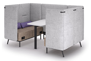 High back meeting pod sofas for privacy silent Around Lab