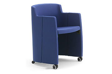 stacking tub armchairs wITH writing tablet clac