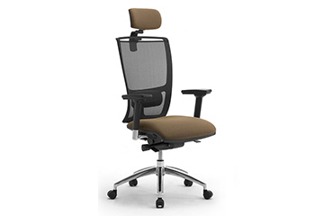 Ergonomic mesh office chairs with headrest Cometa