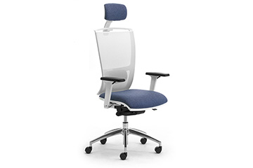 ergonomic design white mesh office seating with headrest Cometa-W