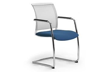 visitor cantilever chairs with mesh Cometa Relax