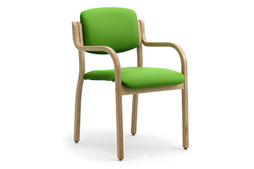 4 legs stacking wooden armchairs for hotel conference Kalos-3