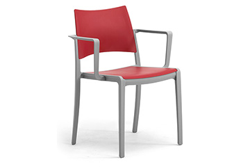 stackable plastic chairs with arms for contract Staky