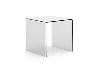 side tables with transparent top TRE-DI